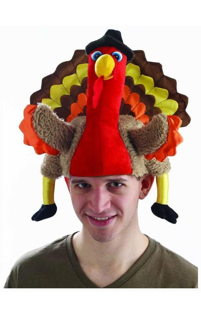 Plush Turkey Hat Thanksgiving Headwear Accessories Lulu Home Thanksgiving Hat Turkey Trot Costume Funny Thanksgiving Hats