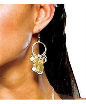 Men's 300 Spartan Queen Gorgo Coin Earrings Prop Costume