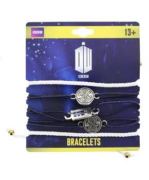 Doctor Who Cord Charm Bracelets, Set of 5