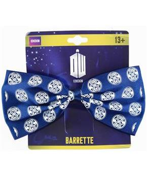 Doctor Who Seal of Rassilon Hair Bow Clip, Navy Blue