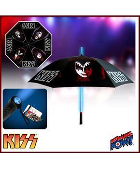 KISS Retro Umbrella with Light-Up Tube and Flashlight Handle