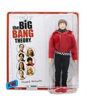 "Big Bang Theory 8"" Retro Clothed Action Figure, Howard (Red Shirt)"