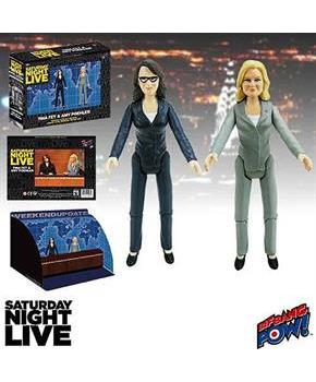 "Saturday Night Live Weekend Update 3 1/2"" Figure Set of 2 Amy/Tina"