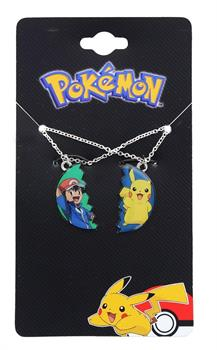 Pokemon Pikachu and Ash Ketchum BF Pendant Necklace