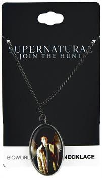 Supernatural Castiel w/ Wings Cameo Necklace