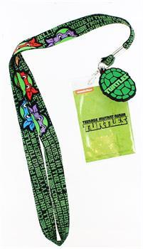 Teenage Mutant Ninja Turtles Character Lanyard with Turtle Shell Charm