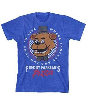 "Five Nights at Freddy's ""Pizza"" Boy's Blue T-Shirt"