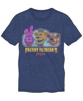"Five Nights at Freddys ""Freddy Fazbear's Pizza"" Blue Men's T-Shirt"