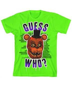 "Five Nights at Freddy's ""Guess Who?"" Boy's Neon Green T-Shirt"
