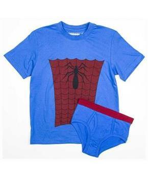Marvel Spider-Man Boy's Shirt/Underwear Underoos Set