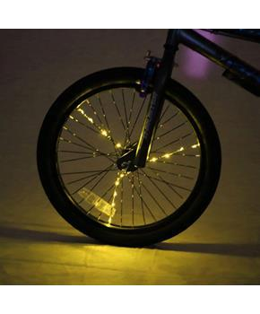 Spoke Brightz LED Bicycle Spoke Accessory, Gold