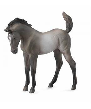 Breyer 1:18 CollectA Model Horse: Grulla Mustang Foal