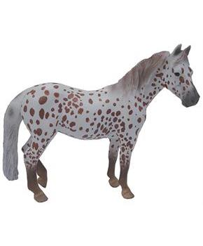 Breyer 1:18 CollectA Model Horse: Chestnut Leopard British Spotted Pony Mare