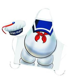 Ghostbusters Stay Puft Apron and Chef Hat