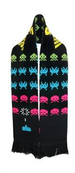 Space Invaders Knit Scarf