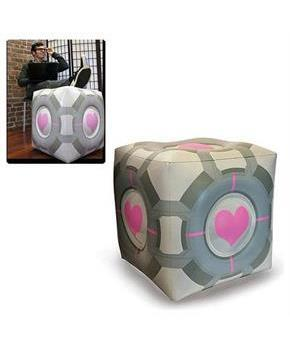 Portal Original Companion Cube Inflatable Ottoman