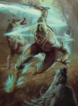 The Witcher 3 Ciri Fighting Wolves 1000 Piece Puzzle