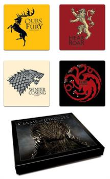 Game Of Thrones House Coaster Set