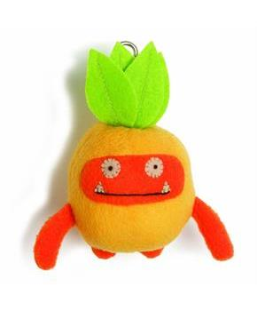 "Ugly Dolls Fruities 4"" Plush Clip-On: Wage Pineapple"
