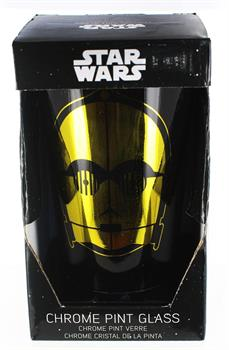 Star Wars C3PO Chrome Pint Glass