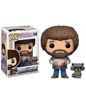 Funko POP! Bob Ross Bob Ross w/ Raccoon Vinyl Figure