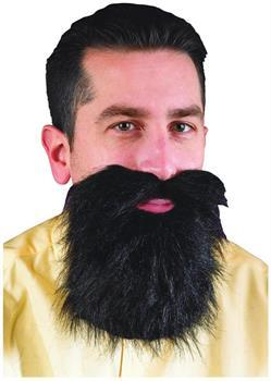 Black Mustache and Long Beard Costume Accessory