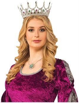 Royal Queen Costume Crown Silver With Jewels Adult Women
