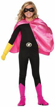Superhero Pink Costume Cape Child
