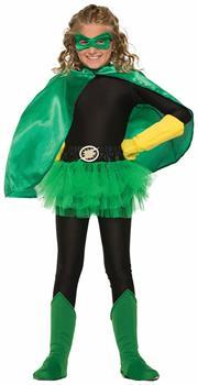 Superhero Green Costume Boot Tops Child