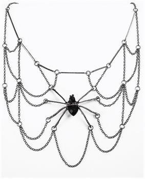 Women's Witches And Wizards Spider Web Costume Necklace Adult
