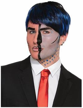 Pop Art Face Tattoo Costume Accessory Adult