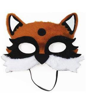 Furry Fox Half Mask Costume Accessory Teen/Adult for Halloween