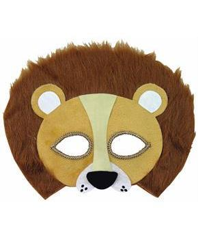 Furry Lion Half Mask Costume Accessory Teen/Adult