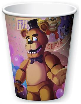 Five Nights At Freddy's 9oz Paper Cups 8ct