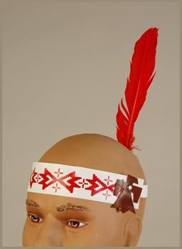 Native American Indian Feather Costume Headband