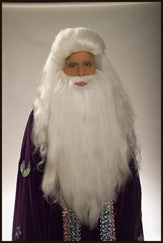 White Sorcerer Moses Wig and Beard Adult Costume Set