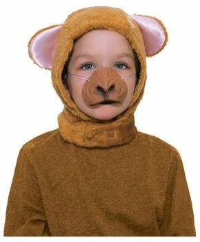 Monkey Hood and Nose Animal Costume Set Child Standard