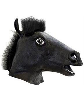 Black Horse Head Mask Costume Accessory