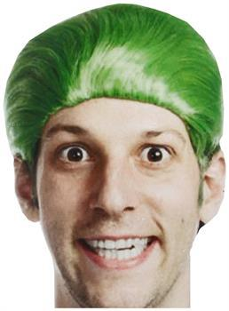 Self Destructors Men's Green Joke Adult Costume Wig