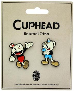 Cuphead Enamel Collector Pin Set, Cuphead and Mughead