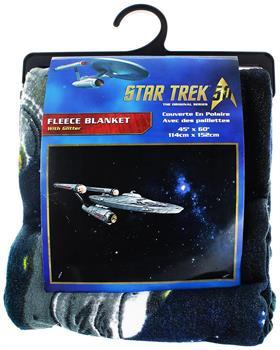 "Star Trek Enterprise 45""x60"" Glitter Fleece Blanket"