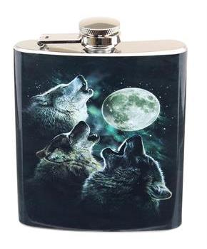 Three Wolf Moon 7oz Flask