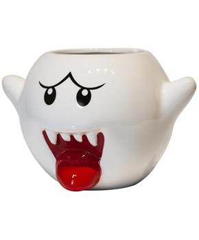Super Mario Bros White Boo Molded Coffee Mug | 20 oz