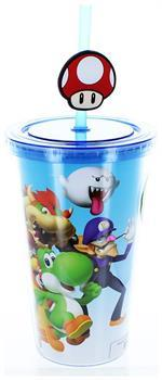 Super Mario Bros.16oz Travel Cup with Straw
