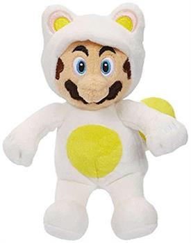 Mario Bros U Wave 7 White Tanooki Mario Plush