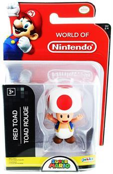 "World of Nintendo 2.5"" Mini Figure Red Toad"