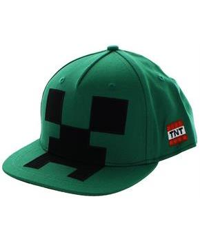Minecraft Creeper Mob Snapback Hat