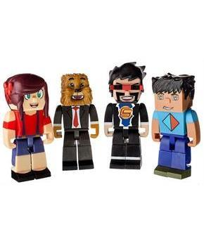 "Tube Heroes Deluxe 3"" Action Figure 4-Pack"