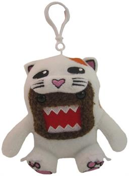 "Domo 4"" Plush Clip On: White Cat Domo"