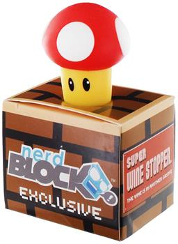 Super Mario Bros. Red Super Mushroom Rubber Wine Stopper